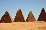 The pyramids of the Royal Cemetery entomb kings and queens from the Meroitic Kingdom