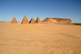 The northern pyramid group near Jebel Barkal has 8 pyramids, including 5 in excellent condition