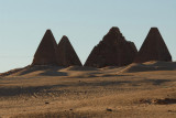 Barkal Pyramids from the base of  Jebel Barkal