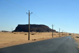 The road that passes to the north of Jebel Barkal