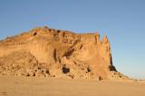 The southern half of the western side of Jebel Barkal