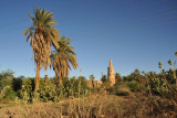 Ancient minaret near the Merowe Bridge