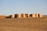 Modern ruins near the Pyramids of Meroë, perhaps a former hotel
