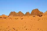 The Pyramids of Meroë date to the Napata Period of the Kingdom of Kush (ca 800-280 BC)