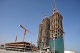 Villamar Project under construction (Nov 2009) - Bahrain Financial Harbour