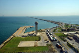 View of the King Fahd Causeway looking east from the Bahrani observation tower