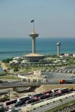 The Saudi observation tower, King Fahd Causeway