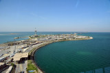 View to the east from the Bahraini observation tower, King Fahd Causeway