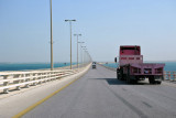 Driving back across the causeway to Bahrain