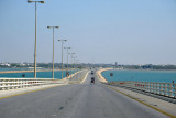 The main island of Bahrain ahead