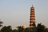 The 9-level Chigang Pagoda is built of red sandstone