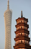 Chigang Pagoda and Canton Tower