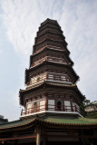 Flowery Pagoda was rebuilt in 1373 after a fire