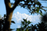 View from the Dhulikhel Lodge Resort of the snowcapped Himalaya