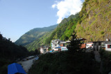 In October 2008, I entered Nepal overland from Tibet and traveled by bus to Kathmandu via Dhulikel