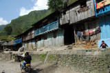 Simple wooden houses on the road south from Kodari
