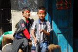 Nepali boys with Hindu blessings on their forehead