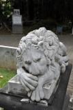 Lion sculpture, Jardin de la Compagnie, Port Louis
