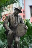 Statue of musician Ti Frère - Alphonse Ravaton (1900-1992), Port Louis