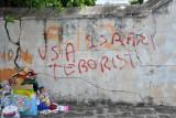 USA Israel Terrorist - Graffiti in Port Louis, Mauritius