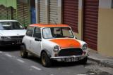 An old Austin Mini, Port Louis
