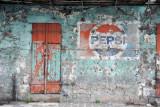 Faded Pepsi advertisement, Dr Sun Yat Sen St, Port Louis
