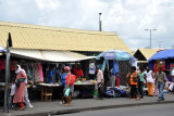 Market stalls by the north bus station, Port Louis