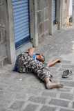 Passed out in Port Louis