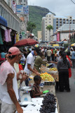 Market stalls on Brabant Street, Port Louis