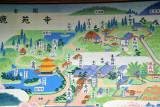 Map of Kinaku-ji Temple