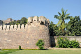 Walls of the northeast corner, Golconda Fort