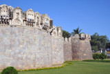 Wall protecting Balahisar Gate, Golconda Fort