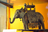 Silver filigree elephant with mahout, Karinagar