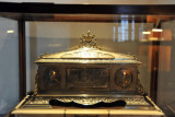 Silver casket with an address presented by the advocates of the High Court of Hyderabad