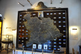 Giant map labeled Progress in Hyderabad, Silver Jubilee of Asaf Jah the Seventh - 1354 Hijri