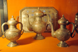 Silver pots and tra, HEH The Nizam Museum