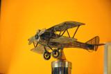 Silver filigree airplane