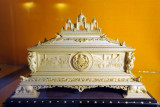 Ivory casket presented by the Maharaja of Mysore