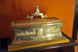 Silver casket with an address presented by the Anglo Indian Community