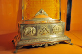 Silver casket presented by the Kaisth Community