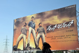 Billboard in the Telugu language, Hyderabad