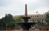 Obelisk Fountain in front of the Indian Parliament's Council of States, the Rajya Sabha