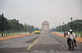 Rajpath - the 3 km ceremonial boulevard between the Presidential Palace and the India Gate