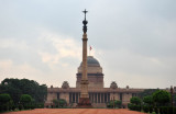 Rashtrapati Bhavan, the Presidential Palace, with the Jaipur Column