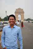 Dennis with the India Gate