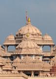 The beautiful temple of Akshardham made of pink sandstone