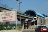 Aksharsham Metro Station, not yet open (October 2009)