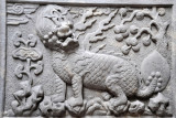 Mythical qilin carved on the tomb gate, ca 1660-1700