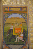 Illuminated page of the Chronicles of Emperor Akbar, 1822