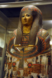 Mummy case of Djedmaatesankh, a musician of the temple of Amun-Re at Thebes, 22nd Dynasty ca 850 BC